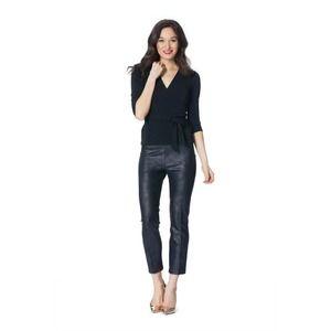 Leota Vegan Leather Nia Pants L Coated Jersey